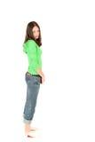Young teenage girl. Portrait of young teenage girl, studio shot stock image