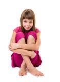 Young teenage girl. Beautiful young teenage girl isolated on white royalty free stock photos