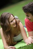 Young teenage girl on a date Stock Image