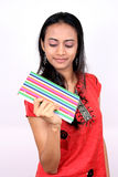Young teenage girl holding a book. Royalty Free Stock Photo