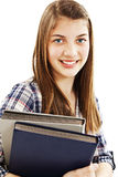 Young teenage girl holding books Stock Image