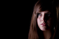 Young teenage girl looking Stock Image