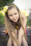 Young teenage girl posing with a cute smile Stock Images