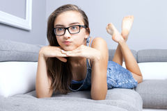 Young teenage girl relaxing. Stock Photography