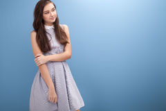 Young teenage girl in studio. Stock Image