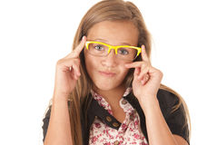 Young teenage model smirk on face Stock Images