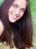 Young teenage woman outdoors Stock Photography