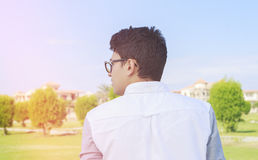 Young teenager from back ,vintage. Stock Photography