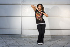 Young teenager dancing hip hop Stock Photos