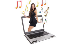 Young teenager dancing Royalty Free Stock Images