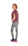 Young Teenager From The Back. Royalty Free Stock Photos
