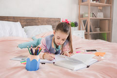 Young teenager girl alone at home childhood Royalty Free Stock Photos