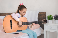 Young teenager girl alone at home childhood Stock Images