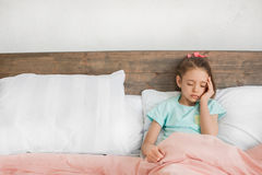 Young teenager girl alone at home childhood Royalty Free Stock Images