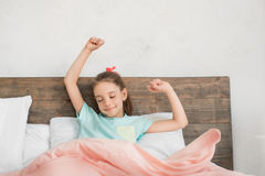 Young teenager girl alone at home childhood stock photo