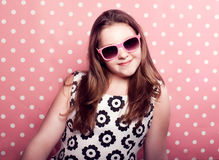 Young teenager girl posing in studio. Stock Image