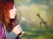 Young teenager girl with red hairs Stock Image