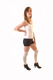 Young teenager girl in shorts. Stock Photography