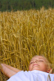 Young teenager girl sleep Stock Photography