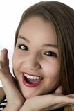 Young Teenager Girl surprise look  face Stock Image
