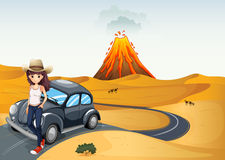 A young teenager on a journey. Illustration of a young teenager on a journey Royalty Free Stock Image