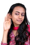 Young teenager listening. Stock Photo
