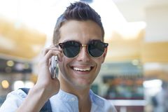 Teenager with the phone Stock Image