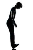 Young teenager standing balancing Royalty Free Stock Image