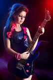 Young teenager star on stage Stock Photography