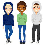 Young Teenagers Casual Clothes Stock Photo