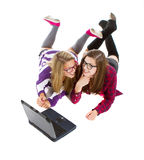 Young teenagers online Royalty Free Stock Images