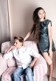 Young teenagers posing Royalty Free Stock Photography