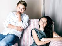 Young teenagers posing Stock Photo