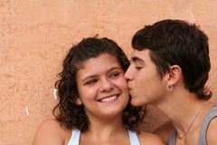 Young teens couple Stock Photography