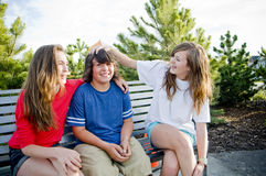 Young teens having fun Royalty Free Stock Images