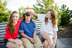 Young teens having fun Stock Photography