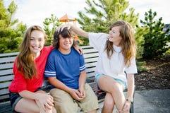 Young teens having fun Stock Photography