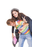 Young teens return school Stock Photos
