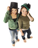 Young Teens Sporting Old Time Hats Stock Photo