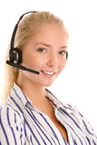 Young telephone operator Stock Images