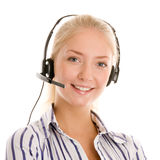 Young telephone operator Stock Photos
