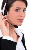 Young telephone operator Royalty Free Stock Images
