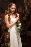 Young tender bride Royalty Free Stock Image