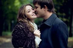 A young tender couple Royalty Free Stock Photography