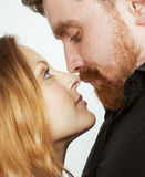 Young tender couple, man and woman in love Stock Photos