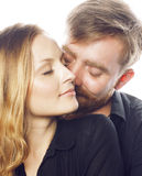 Young tender couple, man and woman in love Royalty Free Stock Photography