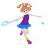 Young tennis girl Royalty Free Stock Photos