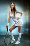 Young tennis player woman Royalty Free Stock Image