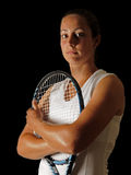 Young tennis professional Stock Images