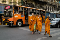Young thai buddhist monk Royalty Free Stock Images